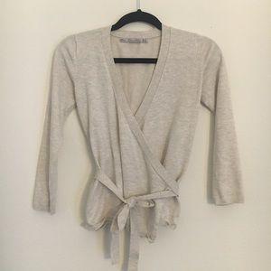 Zara knit wrap top